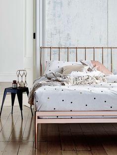 Copper Bed! and Bedroom interiors inspiration | Wow | #copper #interiorsinspo…