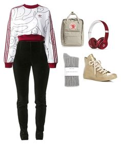 """""""Untitled #419"""" by stone-leblanc ❤ liked on Polyvore featuring Balmain, adidas Originals, Converse, Splendid, Fjällräven and Beats by Dr. Dre"""