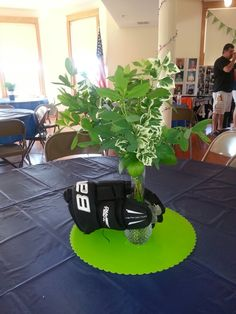 Centerpiece s I made for my son's open house. Cut fresh greens from my yard.