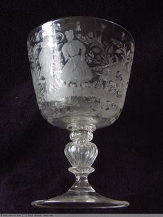 18th century bohemian glass. The German glass industry of the eighteenth century had a great success, since thanks to the improvements of potassium glass for its hardness, it could be carved. In 1750 there were at least nine major centers of production: Nuremberg, Brandenburg, Saxony, Thuringia, Silesia and Prague.