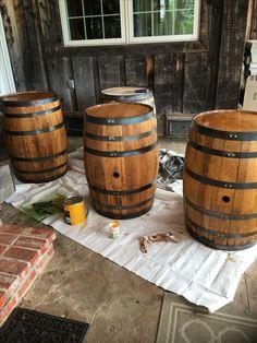 Small Oak Acacia Barrel Wine Whiskey Keg Prop Filming Bar