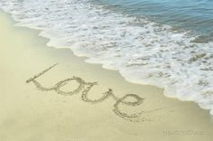 Printable Valentines Love Photography Summer Love at the beach - wall art  8x10, 16x20,  11x14 20x30. $10.00, via Etsy.