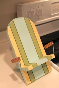 Painted IPad Beach chair stand Canvas look by WindingRunCreations-etsy