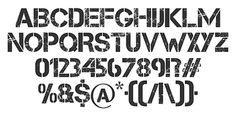 ワイルド系!ステンシルタイプの英字フリーフォントいろいろ stencil font