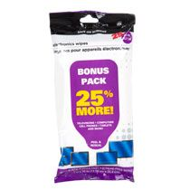 Pre-Moistened Electronics Wipes, 25-ct. Packs