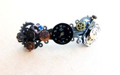 SOLD! Steampunk Hair Barrette-Re-purposed Watch and by TheGirlShed