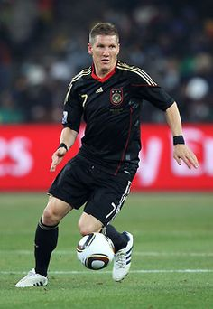 Bastian Schweinsteiger. Bayern München player, extremely ambitious and determined to win. A true team player.
