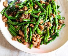 Stir-fried snake beans and pork recipe by Louis Tikaram Bean Recipes, Chef Recipes, Pork Recipes, Cooking Recipes, Healthy Recipes, Healthy Food, Dinner Recipes, Pork And Beans Recipe, Pork N Beans