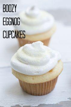 Boozy Eggnog Cupcakes #bettycrocker
