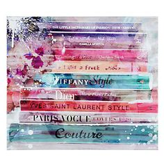 Fashion Splash Library | Canvas | Art by Type | Art | Z Gallerie  Hollywood Glam teen room