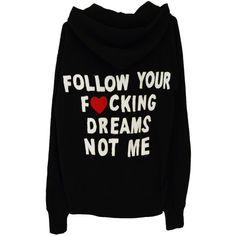 THE FOLLOWER HOODIE ($93) ❤ liked on Polyvore featuring tops, hoodies, hoodie top, hooded sweatshirt, sweatshirt hoodies and hooded pullover