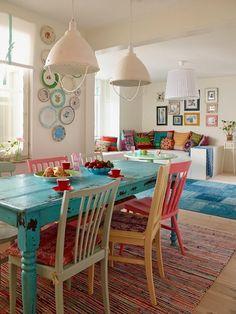 Sala de jantar colorida3