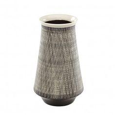 JUST Retro keramik, vase, sort
