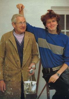 John Taylor and his dad Jack (credit to durandy on Twitter)