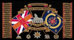 Bn The Royal Anglian Regiment Military Flags, Military Units, Military History, Army Badges, Drums Art, Drum Major, Defence Force, British Army, Coat Of Arms