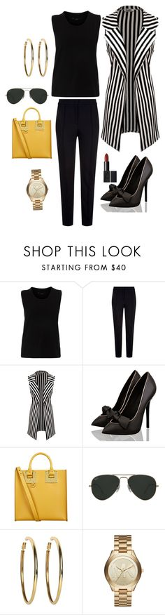 """""""Untitled #1099"""" by stylemirror ❤ liked on Polyvore featuring Escada Sport, Sophie Hulme, Ray-Ban, Kenneth Jay Lane and Michael Kors"""
