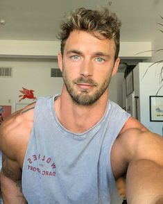 Most Beautiful Faces, Gorgeous Men, Christian Hogue, Hot Guys, Blue Eyed Men, Blonde Guys, Handsome Faces, Muscular Men, Male Face