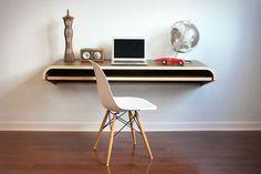 Minimal-Float-Wall-Desk