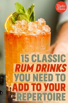Cocktails and Mocktails 15 Basic Rum Drinks You Must Add to Your Repertoire Article Physique: It's s Whiskey Drinks, Bar Drinks, Wine Drinks, Alcoholic Drinks, Easy Rum Cocktails, Drinks With Rum, Rum Cocktail Recipes, Beverages, Tequila Drinks