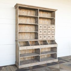 Old General Store Wooden Display Hutch - Painted Fox Home Closet orgsnization Farmhouse Furniture, Ikea Furniture, Wooden Furniture, Furniture Projects, Furniture Plans, Kitchen Furniture, Living Room Furniture, Furniture Design, Hutch Furniture