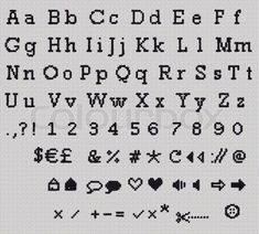 """Buy the royalty-free Stock image """"Alphabet, Letter and Icrons Cross-stitch hand crafted."""" online ✓ All image rights included ✓ High resolution picture f. Small Cross Stitch, Cross Stitch Art, Cross Stitch Designs, Cross Stitching, Cross Stitch Embroidery, Cross Stitch Letter Patterns, Cross Stitch Letters, Cross Stitch Bookmarks, Stitch Patterns"""