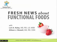 Fresh News About Functional Foods by Guiding Stars.