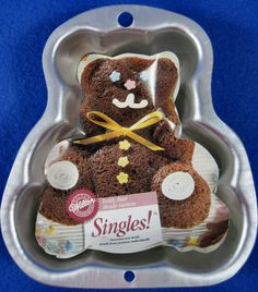 Wilton Teddy Bear Single Cake Pan 1998 Rare & Hard To Find New #Wilton