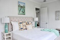 lovelace interiors, 30a interior design, seagrove interior design, guest bedroom design, Furniture, Interior, Remodel, Home Decor, Bed, Coastal Bedroom, Oak, Interior Design, Bedroom