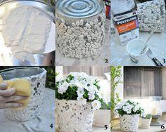 pot de fleurs galets