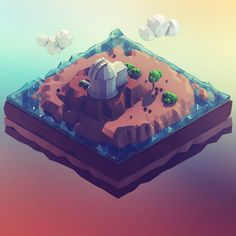 Low Poly Landscapes of Science, Zubair Parkar on ArtStation at https://www.artstation.com/artwork/low-poly-landscapes-of-science
