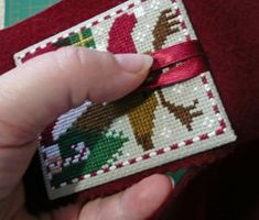 Embroidery Stitches Tutorial 23 - I personally don't think the Just Cross Stitch ornie magazine is very clear with their finishing instructions for 'newbies' so I thought I'd make one up myself to help peopl… Xmas Cross Stitch, Cross Stitch Christmas Ornaments, Just Cross Stitch, Cross Stitch Finishing, Cross Stitch Heart, Simple Cross Stitch, Cross Stitch Samplers, Christmas Cross, Cross Stitching