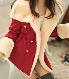 Wintery fun red coat