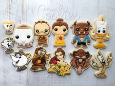 Beauty And The Beast Birthday Party Sugar Cookies TheIcedSugarCookie.com CREEative Cookeis By Ree