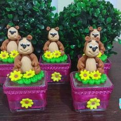 Masha And The Bear, Irene, Biscuits, Birthdays, Birthday Cake, Acrylic Box, Crafts For Children, Decorated Boxes, Candy Stations