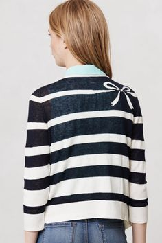 Knotted Stripes Cardigan #anthropologie