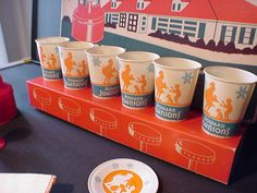 Toy soda fountain cups