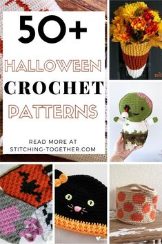 Over 50 of the best Halloween crochet patterns to get you ready for the spookiest holiday of the year. You'll find Halloween patterns for hats, bags, costumes, decor and more. Click to go roundup by Stitching Together. Crochet Halloween Costume, Halloween Blanket, Halloween Crochet Patterns, Halloween Pillows, Halloween Items, Halloween Crafts, Fall Halloween, Crochet Pumpkin Hat, Crochet Fall