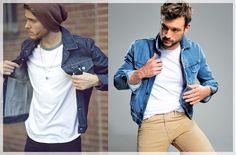 Jeansowa kurtka do ponadczasowy trend! Denim, Jackets, Fashion, Down Jackets, Moda, Fashion Styles, Fashion Illustrations, Jacket, Jeans