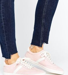 ASOS DELPHINE Stripe Lace Up Sneakers - Pink