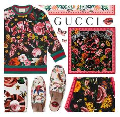 """""""Presenting the Gucci Garden Exclusive Collection: Contest Entry"""" by pastelneon ❤ liked on Polyvore featuring Gucci, prints, floralprint, exclusive and gucci"""