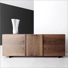 verdesign contarini sideboard, walnut, 3 doors by enzo berti