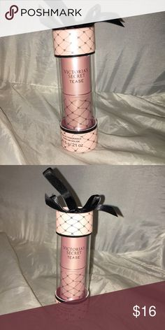 VS TEASE Solid parfum Gift Box NEW Victoria's Secret TEASE Fragranced perfum parfum solid Full size stick New in pretty sealed gift box with bow Smoke free home.   This closet does NOT trade Victoria's Secret Makeup