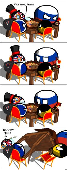 Table Flip ( UK, France, Russia, Germany ) by Toughsnow #polandball #countryball