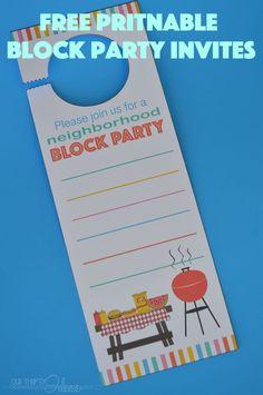 free printable neighborhood block party invites
