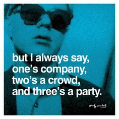 andy warhol quotes-- He's an introvert like me :) Andy Warhol Pop Art, Andy Warhol Quotes, The Words, Party Hard, Party Time, Little Bit, Party Poster, Dot And Bo, Quote Posters