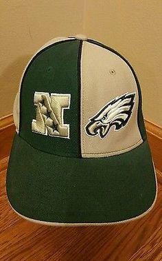 NFL Philadelphia Eagles Reebok NFC Fitted Hat Cap Size 7 1/4 GREEN GREY