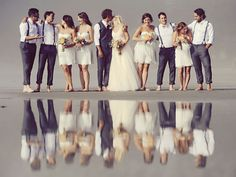 Fun with reflections. As seen on BRIDE.Ca Photo credit: Erin Wallis Photography ~ Campbell River, BC