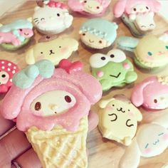 Who had cute treats for Easter? Loving these Sanrio Macarons posted by @babychocobeauty #japanla #mymelody #sanrio #hellokitty #pompompurin #keroppi #cinnamoroll #littletwinstars