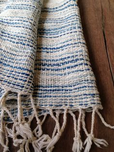 Handwoven cotton shawl scarf in IKAT style by cottonandloom, $46.00