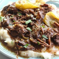 This Mississippi Pot Roast is the most delicious pot roast you will EVER eat! Made with just five ingredients and slow cooked to perfection in the crockpot!